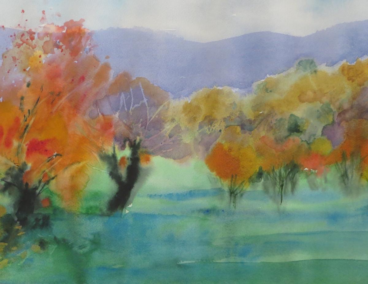 A Landscape in pastel – Autumn Trees