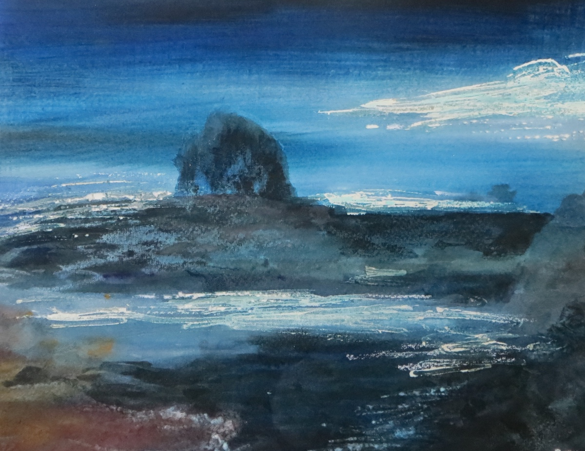 A Seascape in pastel – Night Sky